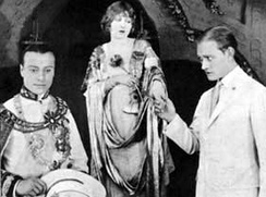 Harris in Fool's Paradise (1921) with John Davidson (left) and Conrad Nagel (right)