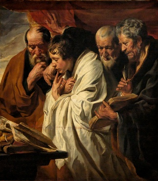 Jacob Jordaens, The Four Evangelists, 1625–1630.