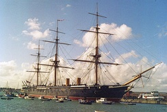 HMS Warrior, the first iron-hulled, armour-plated warship