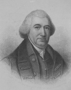 Etching of Hanson based on a portrait by Charles Willson Peale that was painted from life in 1781–1782[11]