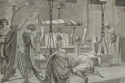 Burying the Body of Joseph (illustration from the 1890 Holman Bible)