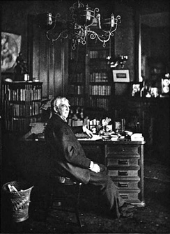 Holmes in his study during his later life