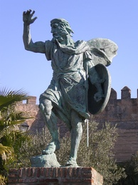 Statue of Ibn Marwan in Badajoz