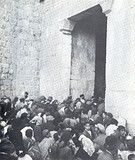 Jewish residents of Jerusalem Old City fleeing during the Jordanian offensive