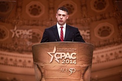 Banks speaking at CPAC 2014.