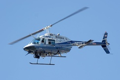 A Bell 206 helicopter of the Los Angeles Police Department