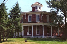Loren Andrus Octagon House (1860) in Washington, Michigan, added in 1971.