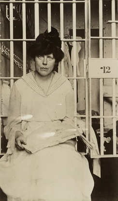 Lucy Burns in Occoquan Workhouse, Washington, D.C.
