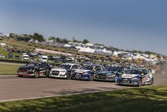 Action from the 2016 World RX of Great Britain