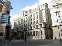 The Lutyens designed Midland Bank Head Office building, London.