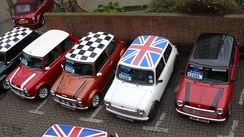 The Mini became an icon of 1960s British popular culture, and featured in the 1969 caper film The Italian Job.