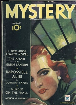 Mystery, 1934 mystery fiction magazine cover
