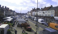 Northallerton High Street on market day