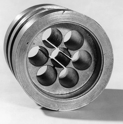 The cavity magnetron developed by John Randall and Harry Boot in 1940 at the University of Birmingham, England