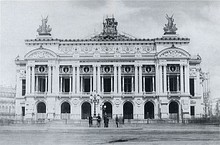 The facade in November 1866