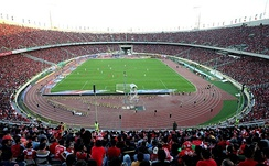 The Azadi Stadium in Tehran is West Asia's largest football stadium.