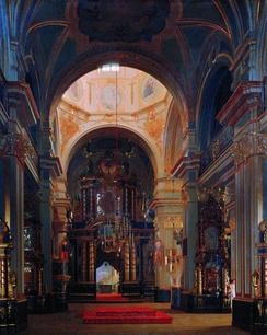 С.К.Зарянко Внутренний вид морского Никольского собора в Петербурге. 1843
