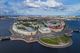 Spit of Vasilievsky Island and the Neva