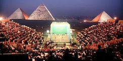 Squash Played at the Pyramids of Egypt