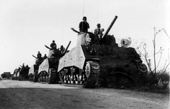 Sherman tanks of the Israeli 8th Armoured Brigade, 1948