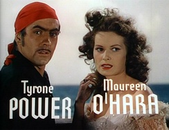 With Maureen O'Hara in the trailer for The Black Swan (1942)