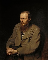 Kurosawa's favorite author was Dostoyevsky, who wrote The Idiot, which Kurosawa adapted into a Japanese film version in 1951. Vasily Perov portrait from 19th century.