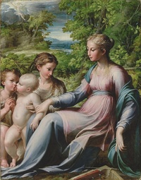 Parmigianino, Virgin with Child, St. John the Baptist, and Mary Magdalene, about 1530
