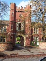 Wantage Hall gatehouse, built 1908, is the oldest hall at the University