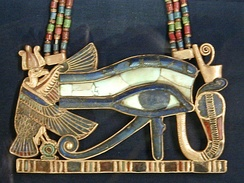 Ancient Egyptian Eye of Horus amulet