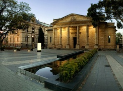 The Art Gallery of South Australia, and part of the South Australian Museum on North Terrace