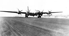 Although designed for B-29 Superfortress operations, Shemya Army Airfield only saw one B-29 land during the war. This Superfortress was deployed to Ladd AAF, Alaska for cold weather testing in May 1945, and made a landing at Shemya. It stayed overnight then departed the next morning for Amchatka AAF.