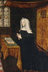 Hall portrait of the foundress Lady Margaret Beaufort by Rowland Lockey