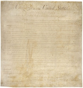 United States Bill of RightsCurrently housed in the National Archives.