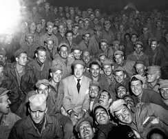Bob Hope entertained X Corps in Korea on 26 October 1950.