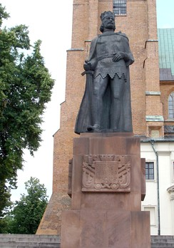 Statue of Bolesław I the Brave in front of the Gniezno Cathedral