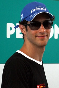 Bruno Senna made his debut with the new Hispania team.