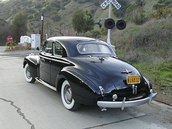 1940 Buick Super coupe rear