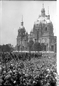 1928 Roter Frontkämpferbund rally in Berlin. Organized by the Communist Party of Germany the RFB had at its height over 100,000 members