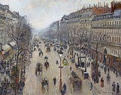 Camille Pissarro, Boulevard Montmartre, morning, cloudy weather, 1897