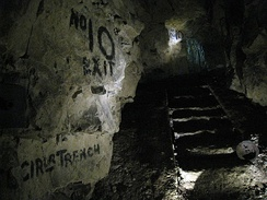 Exit from the Allied military tunnels in the Carrière Wellington
