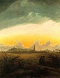 Neubrandenburg im Morgennebel, by Caspar David Friedrich