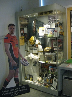 Castleford Tigers memorabilia at the Castleford Forum Museum