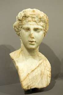 Marble bust of youthful Dionysus. Knossos, 2nd century AD. Archaeology museum of Heraklion.