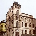 The main synagogue of the city of Frankfurt am Main (Germany) before the Kristallnacht.