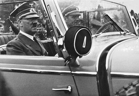 Hitler and his FBK driver Erich Kempka in Mercedes W31 – September 1939, Poland