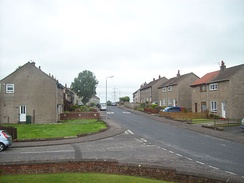 A mixture of council and ex-council housing (through Right to Buy scheme) in Hurlford, East Ayrshire, Scotland