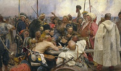 Reply of the Zaporozhian Cossacks by Ilya Repin