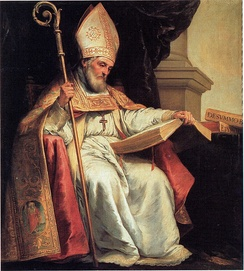 A 17th-century depiction of the medieval writer Isidore of Seville, who provided a list of activities he regarded as magical
