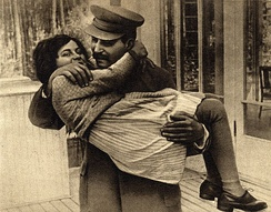 "Joseph Stalin with his daughter Svetlana. After she moved to the United States, she simplified her name to ""Lana"", which sounds like other American names. ""Lana"" is, however, not a frequent short form for the name ""Svetlana"" in Eastern Europe, which normally uses ""Sveta""."