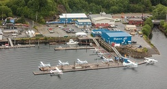 Port of seaplanes, one of the main transportation means.